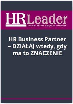 HR Business Partner - działaj wtedy, gdy ma to znaczenie                      (ebook)