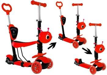 Hulajnoga Balansowa Model 9018 Jeździk Czerwona 5w1-Lean Toys