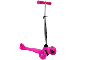 Hulajnoga Dziecięca Trójkołowa Balansowa Model 913 Różowa-LEAN Sport