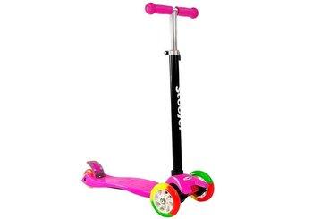 Hulajnoga Dziecięca Trójkołowa Balansowa Różowa LED-Lean Toys