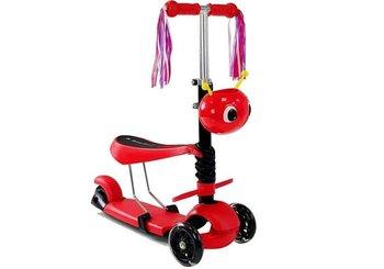 Hulajnoga Trójkołowa z Siodełkiem 8086 Czerwona-Lean Toys