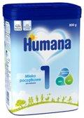 Humana 1, Mleko początkowe od urodzenia, 800 g-Humana
