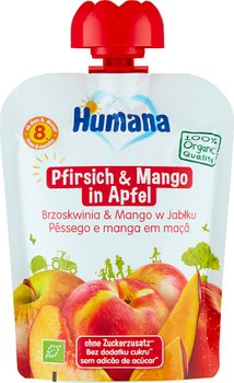 Humana, Organic, mus jabłko brzoskwinia mango, 90 g-Humana
