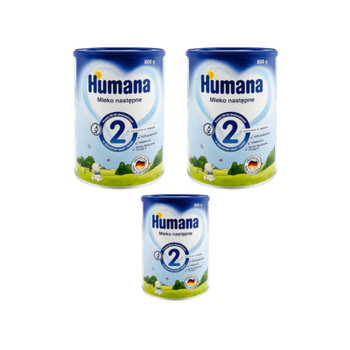 Humana, Zestaw 2+1 gratis, Mleko następne, 2,8 kg
