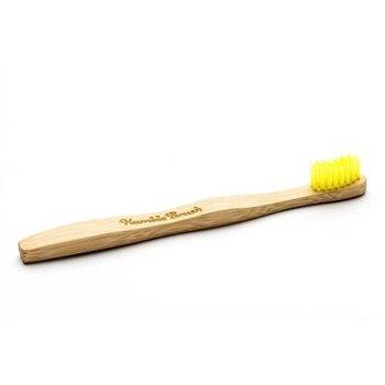Humble, bambusowa szczoteczka do zębów, żółta, 1 szt.-Humble