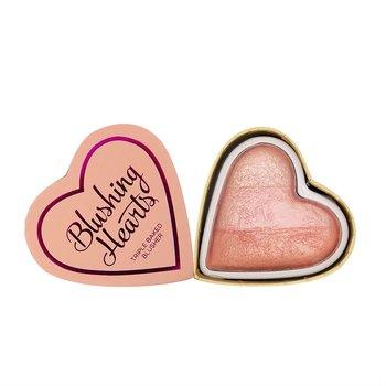 I Heart Revolution, Blushing Hearts, róż do policzków Peachy Pink Kisses, 10 g-I Heart Revolution