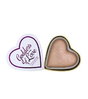 I Heart Revolution, I Love Make Up Blushing Hearts, rozświetlacz do twarzy Goddess of Love, 10 g-I Heart Revolution