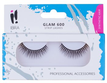 Ibra, sztuczne rzęsy na pasku Glam 600, 1 para-Ibra