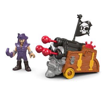 Imaginext, figurka kolekcjonerska Piraci Davey Jones i Potrójna Armata -Imaginext