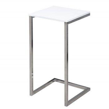 Industrialny stolik pod laptopa ELIOR Platten, biało-srebrny, 30x30x60 cm-Elior
