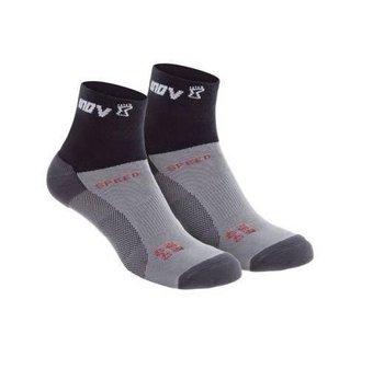 inov-8 , Skarpety, Speed Sock Mid, 2-pak, czarno-szary, rozmiar 35-39-inov-8