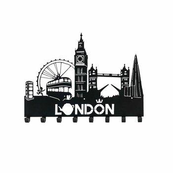Intesi Wieszak ścienny Londyn czarny-Intesi