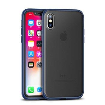 iPaky Cucoloris wytrzymałe etui pokrowiec iPhone XS Max niebieski - Niebieski-iPaky