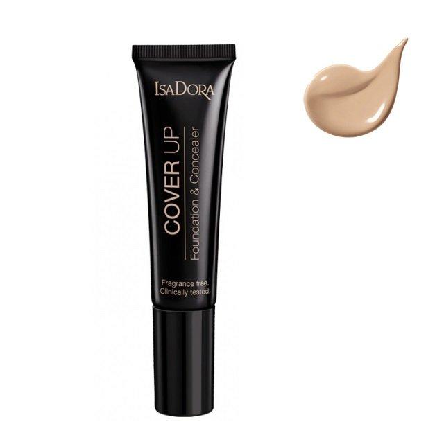 Isadora, Cover Up, podkład i korektor w jednym 62 Nude Cover, 35 ml