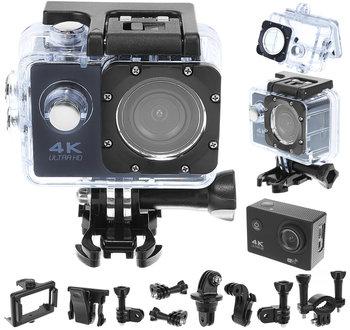 Iso Trade, Kamera sportowa 4k, kamerka wodoodporna wifi sd32gb 9101, czarny-Iso Trade