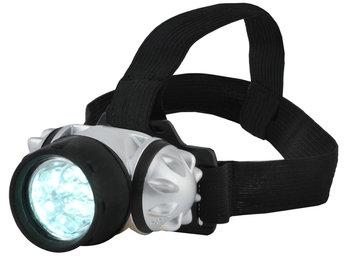 Iso Trade, Latarka czołowa, lampka 7 LED turystyczna 3462, czarny-Iso Trade