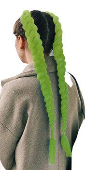Iso Trade, włosy syntetyczne zielone, 60 cm-ISO TRADE