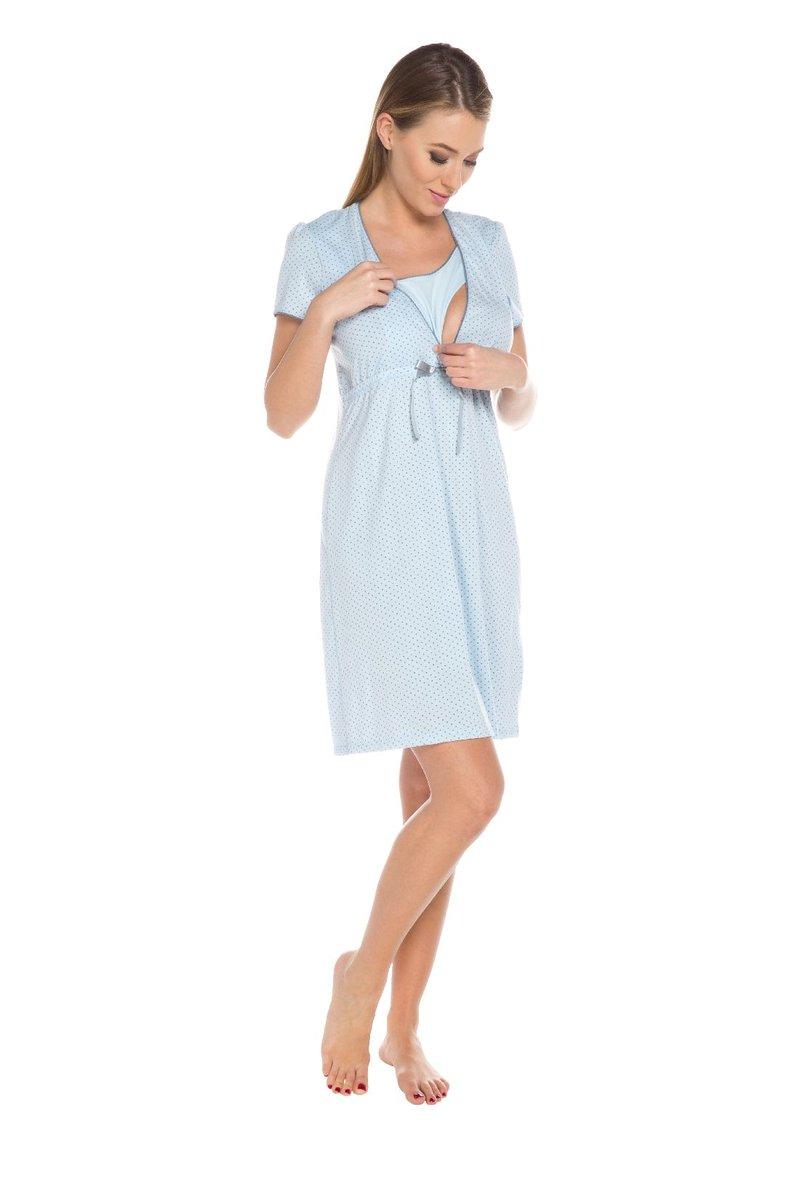 878a36762b7c72 Italian Fashion, Felicita, Koszula nocna dla matek karmiących, krótki rękaw,  rozmiar L, Błękitny - Italian Fashion | Sklep EMPIK.COM