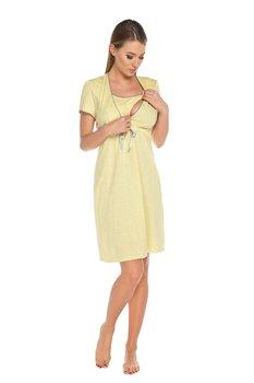 b9ed4851ee1d1c Italian Fashion, Felicita, Koszula nocna dla matek karmiących, krótki  rękaw, rozmiar L, Żółty