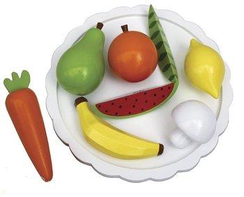JaBaDaBaDo, owoce i warzywa na talerzu, zestaw-JaBaDaBaDo