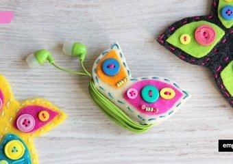 Jak wykonać na słuchawki pokrowce w kształcie motyli - gadżet dla fana muzyki