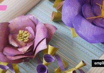 Jak zrobić ozdobne kwiaty z papieru?