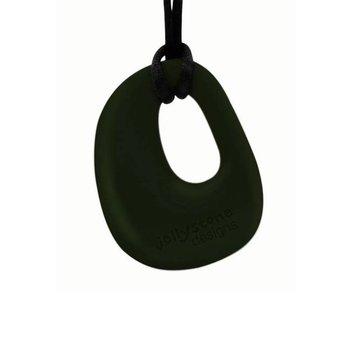 Jellystone Designs, Wisiorek silikonowy gryzak, Kamyk, Czarny-Jellystone Designs
