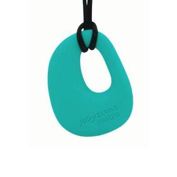 Jellystone Designs, Wisiorek silikonowy/Gryzak, Kamyk, Turkusowy-Jellystone Designs