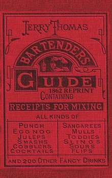 Jerry Thomas Bartenders Guide 1862 Reprint-Thomas Jerry