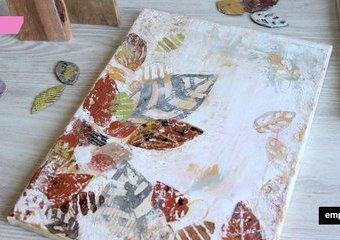 Jesienne impresje na płótnie - obrazy z motywem liści