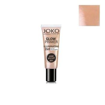 Joko, Make-Up Glow Primer Illuminating, baza i rozświetlacz w kremie 2w1 201 Love Yourself, 25 ml-Joko