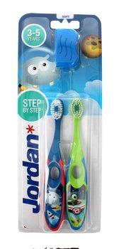 Jordan, Soft Clean, szczoteczka do zębów dla dzieci 3-5 lat miękka, 2 szt.-Jordan