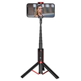 Joyroom selfie stick tripod teleskopowy statyw kijek do zdjeć bezprzewodowy pilot Bluetooth czarny (JR-Oth-AB202)