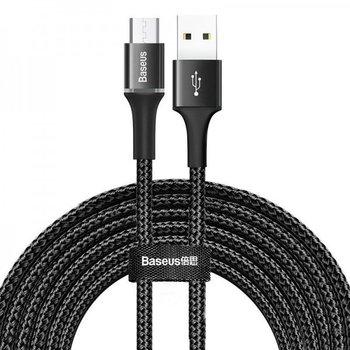 Kabel micro USB BASEUS z podświetleniem LED Halo, 2A, 3m, czarny-Baseus