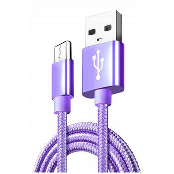 Kabel Micro-USB do szybkiego ładowania QUICK CHARGE 3.0 - Fioletowy.-EtuiStudio