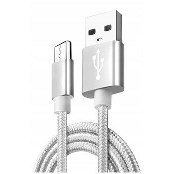 Kabel Micro-USB do szybkiego ładowania QUICK CHARGE 3.0 - Srebrny.-EtuiStudio