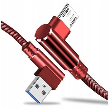 Kabel Micro-USB Fast Charge QC Angle 90° - Czerwony-EtuiStudio