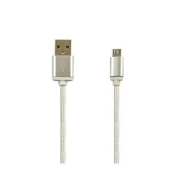 Kabel Micro-USB pleciony nylon 1.5m - Biały.-EtuiStudio