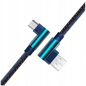 Kabel Micro-USB Szybkie ładowanie  Angle 90° 2m - Jeans-EtuiStudio