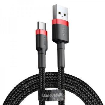 Kabel USB-C BASEUS Cafule 2A 3m, czerwono-czarny-Baseus