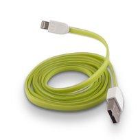 Kabel USB do Apple iPhone 5/6 FOREVER silikonowy, płaski, zielony