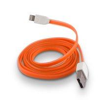 Kabel USB do Apple iPhone 5 FOREVER silikonowy, pomarańczowy