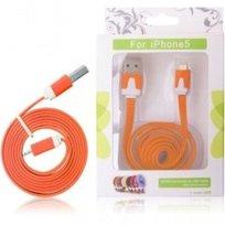 Kabel USB GLOBAL TECHNOLOGY do iPhone 5, pomarańczowy
