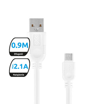 Kabel USB - microUSB EXC MOBILE Whippy, 0.9 m-eXc mobile