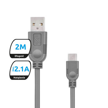 Kabel USB - microUSB EXC MOBILE Whippy, 0.9 m - eXc mobile