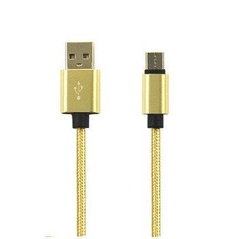 Kabel USB Typ-C pleciony nylon 1m - Złoty.-EtuiStudio