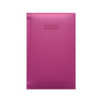 Kalendarz książkowy 2020, A6, ciemnoróżowy