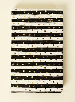 Kalendarz książkowy 2020, Black&white Paski i kropki