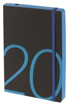 Kalendarz książkowy 2020, czarno-niebieski