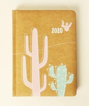 Kalendarz książkowy 2020, kraftowy, Be Eco - Kaktus